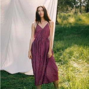 Christy Dawn The Lincoln Dress In Dusty Crimson